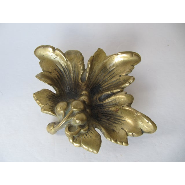 Brass Grape Leave Catchall - Image 4 of 5