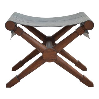 Vintage Jean Michel Frank Style Stool, 20th Century, France For Sale