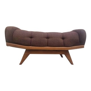 1960s Mid-Century Modern Adrian Pearsall Gondola Style Bench in Brown For Sale