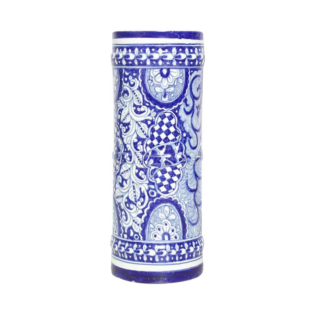Blue and White Umbrella Stand - Image 1 of 4
