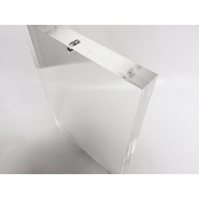 Free Standing Clear Lucite Photo Frame - Image 3 of 5