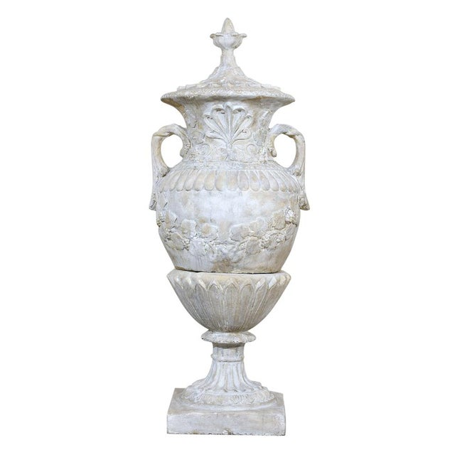 Pair of Grand Neoclassical-style Patio Urns - Image 3 of 10