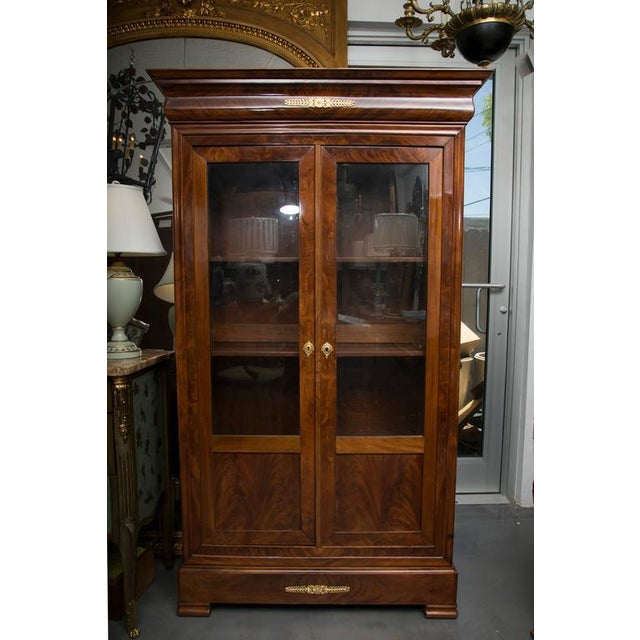 19th Century French Empire Mahogany Bookcase For Sale - Image 9 of 10