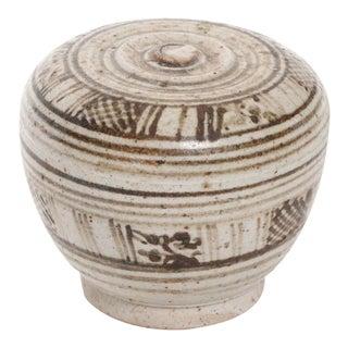 Antique Thai Sawankhalok Lidded Jar For Sale