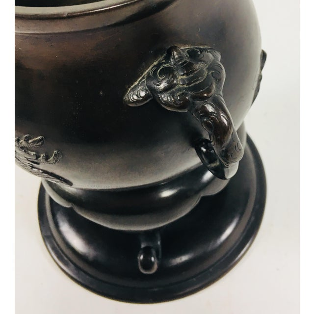 Asian Japanese Bronze Bowl For Sale - Image 3 of 9