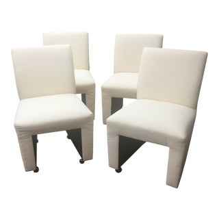 Modern Lee Industries Slipper Chairs- Set of 4 For Sale