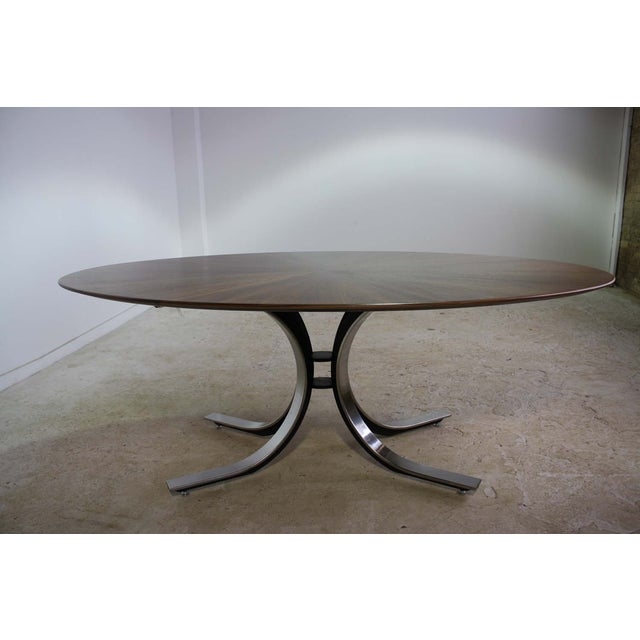 Osvaldo Borsani Borsani Dining Table Starburst Wood Top - 5 Avail. For Sale - Image 4 of 9