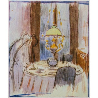 """1959 Pierre Bonnard Lithograph """"The Yellow Lamp"""" For Sale"""
