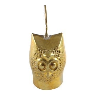 Owl Brass Bell For Sale