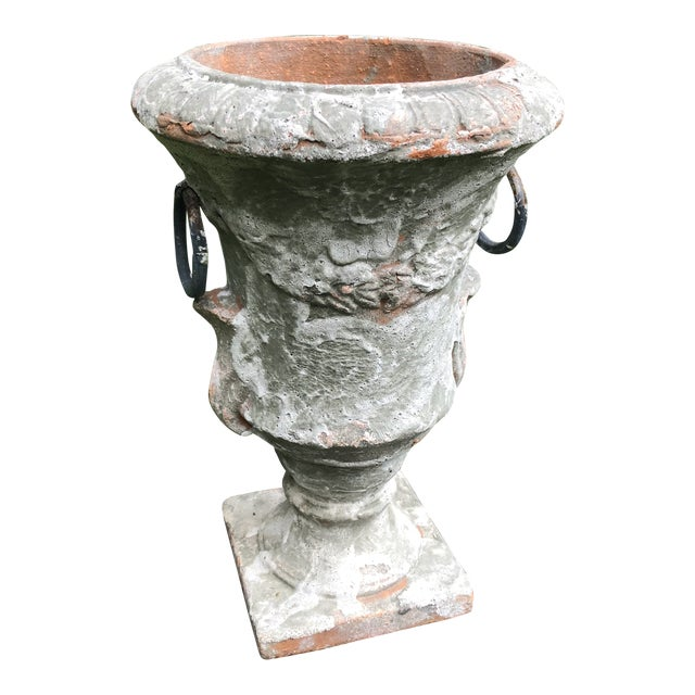 Antique French Terra Cotta Jardiniere For Sale
