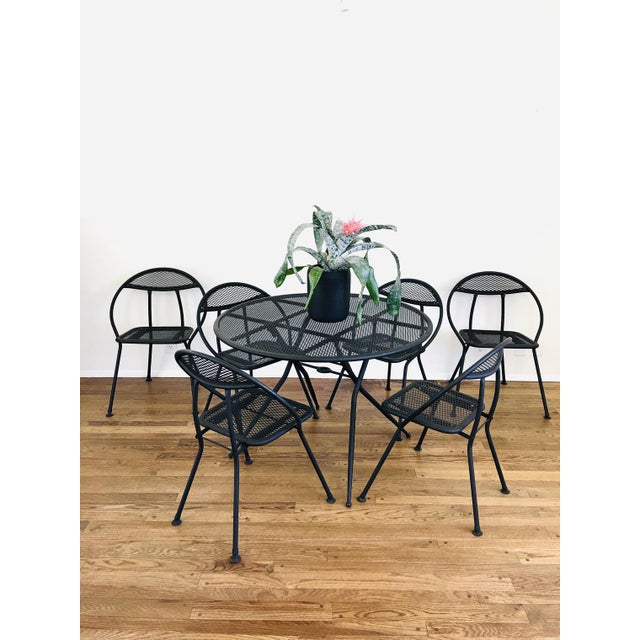 Mid-Century Modern 1960s Mid Century Modern Rid-Jid Folding Patio Table & 6 Chairs Set, 7 Pieces For Sale - Image 3 of 11