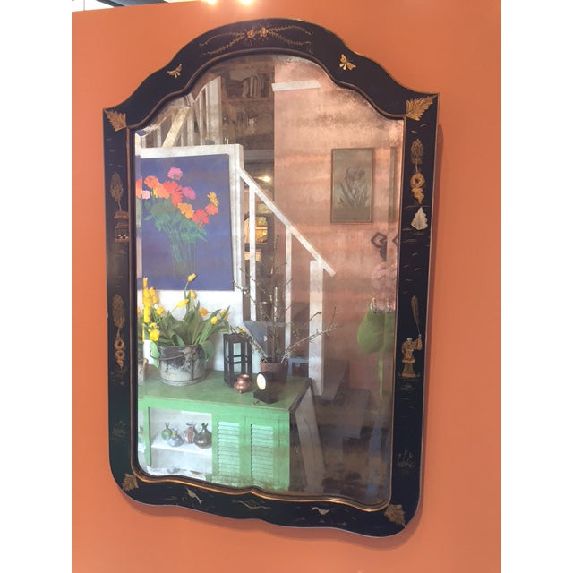 Chinoiserie Painted Vintage Mirror - Image 2 of 4
