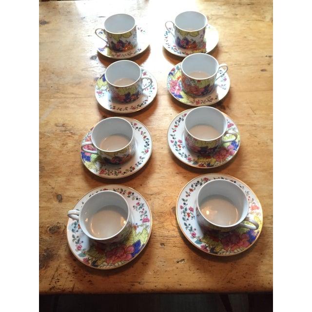 Tobacco Leaf Cups & Saucers - Set of 6 - Image 2 of 5