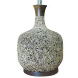 Image of Milo Baughman Style Cork Table Lamp For Sale