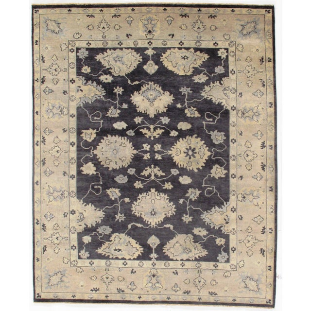"""2010s Traditional Pasargad N Y Original Oushak Design Hand-Knotted Rug - 8'1"""" X 9'10"""" For Sale - Image 5 of 5"""