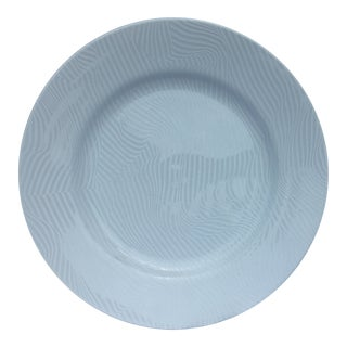 "20th C. Minimalist Swid Powell ""White Stripes"" Porcelain Chop Plate by Robert and Trix Haussmann For Sale"