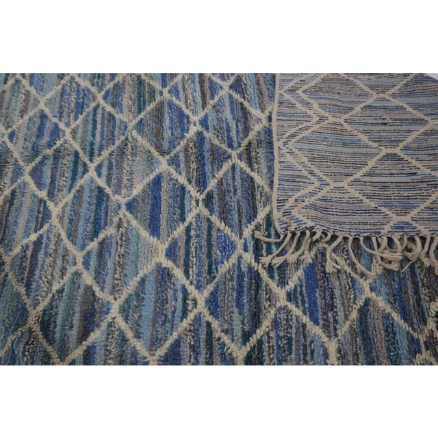 "2010s Beni M'rirt Vintage Moroccan Rug, 5'0"" X 8'5"" Feet For Sale - Image 5 of 6"