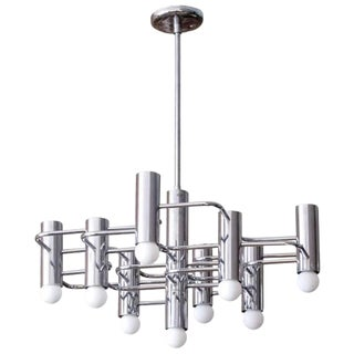 1960 Boulanger Chrome Chandelier