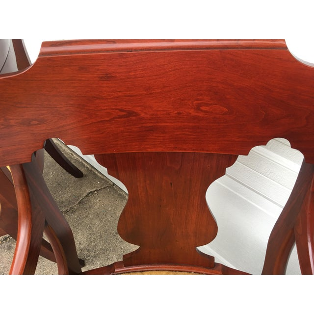 Cherry Arm Chairs - A Pair - Image 4 of 5