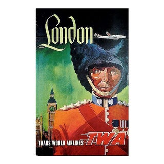 Matted and Framed Vintage London Travel Poster