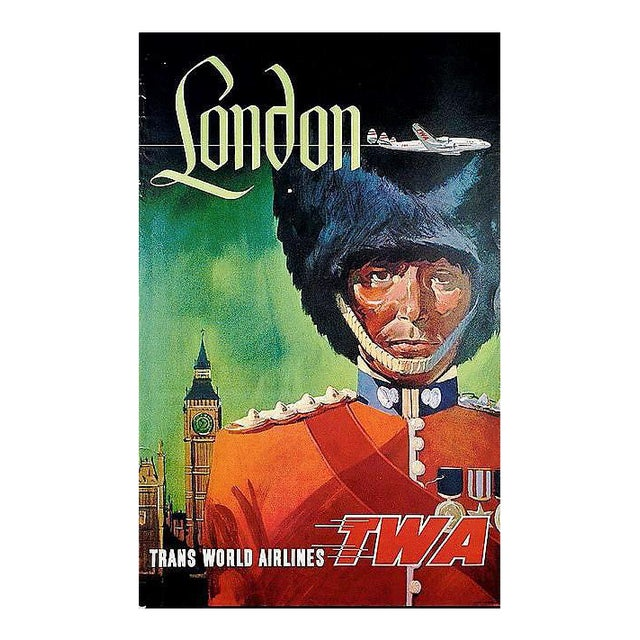 Matted and Framed Vintage London Travel Poster - Image 1 of 3