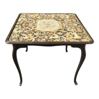 French Antique Needlepoint Table