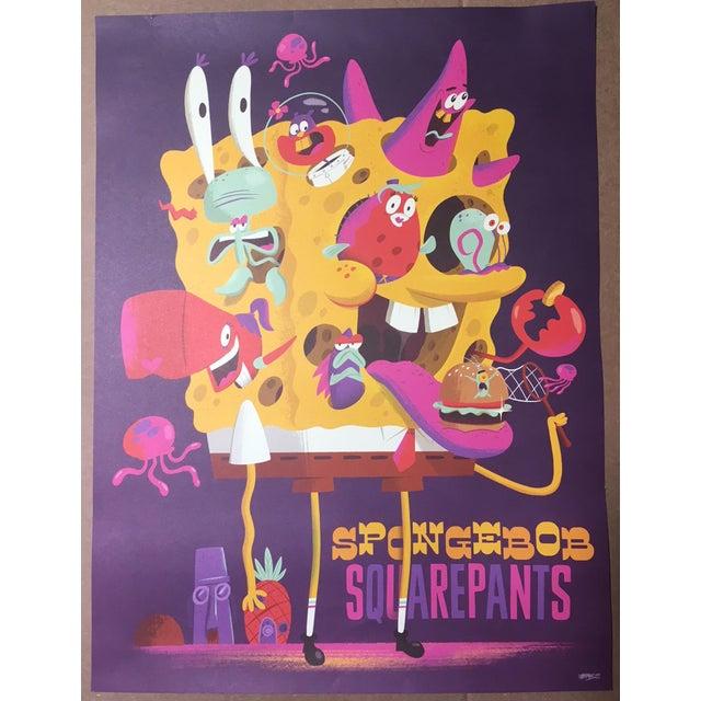 "Christopher Lee ""Spongebob Squarepants"" Tribute Promotional Nickelodeon Poster For Sale - Image 4 of 4"