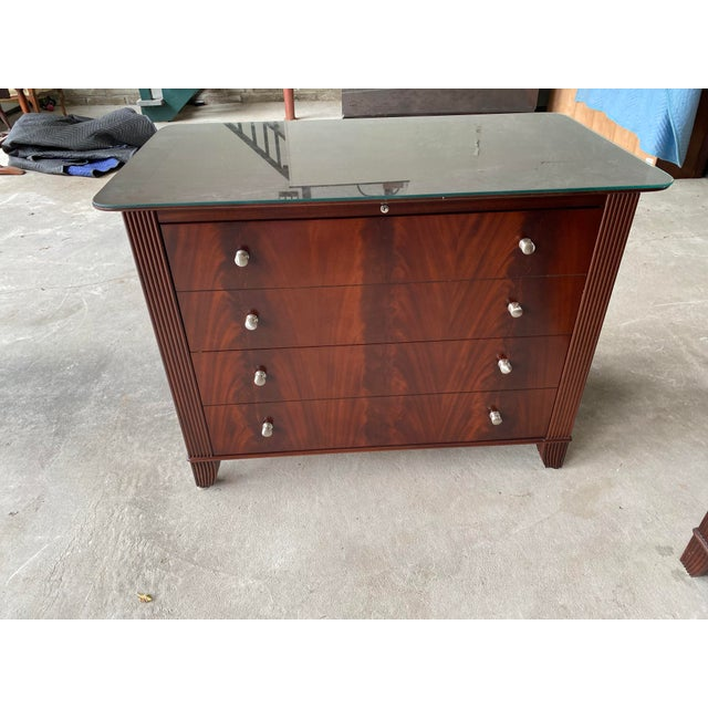 Sligh Mahogany Mira Collection File Cabinet. Two lateral files with metal rails for legal or standard files. Adding in...