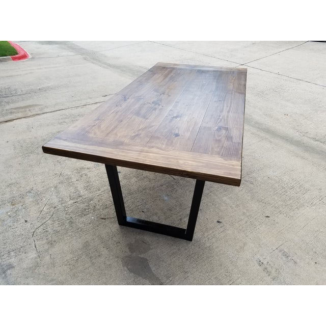 Modern Industrial Dining Table - Image 4 of 5