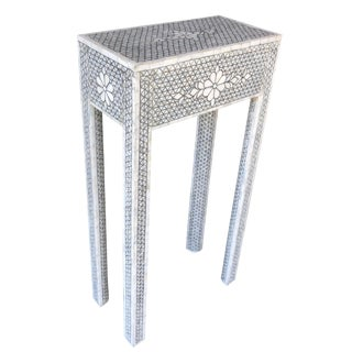 Mother of Pearl Inlay Contemporary Side Table For Sale