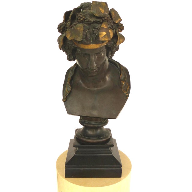 F. Barbedienne Fondeur Bronze Statue of Antinous as Dioniso For Sale In Miami - Image 6 of 12