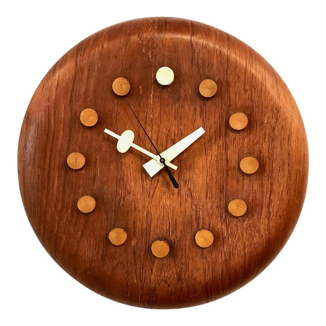 Vintage George Nelson / Fritz Hansen Wall Clock 1950's For Sale