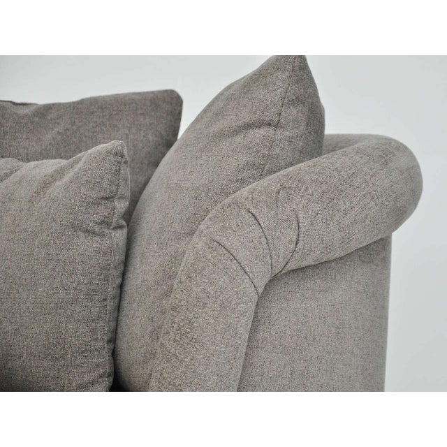 Gray Pair of Large Milo Baughman Swivel Chairs For Sale - Image 8 of 9