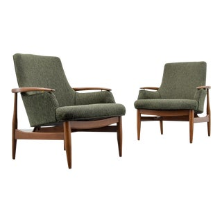 Pair of Lounge Chairs in the Manner of Finn Juhl