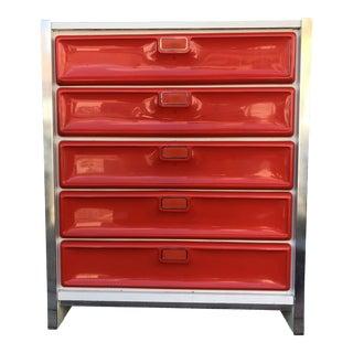 1960's Mid Century Modern Highboy Dresser For Sale