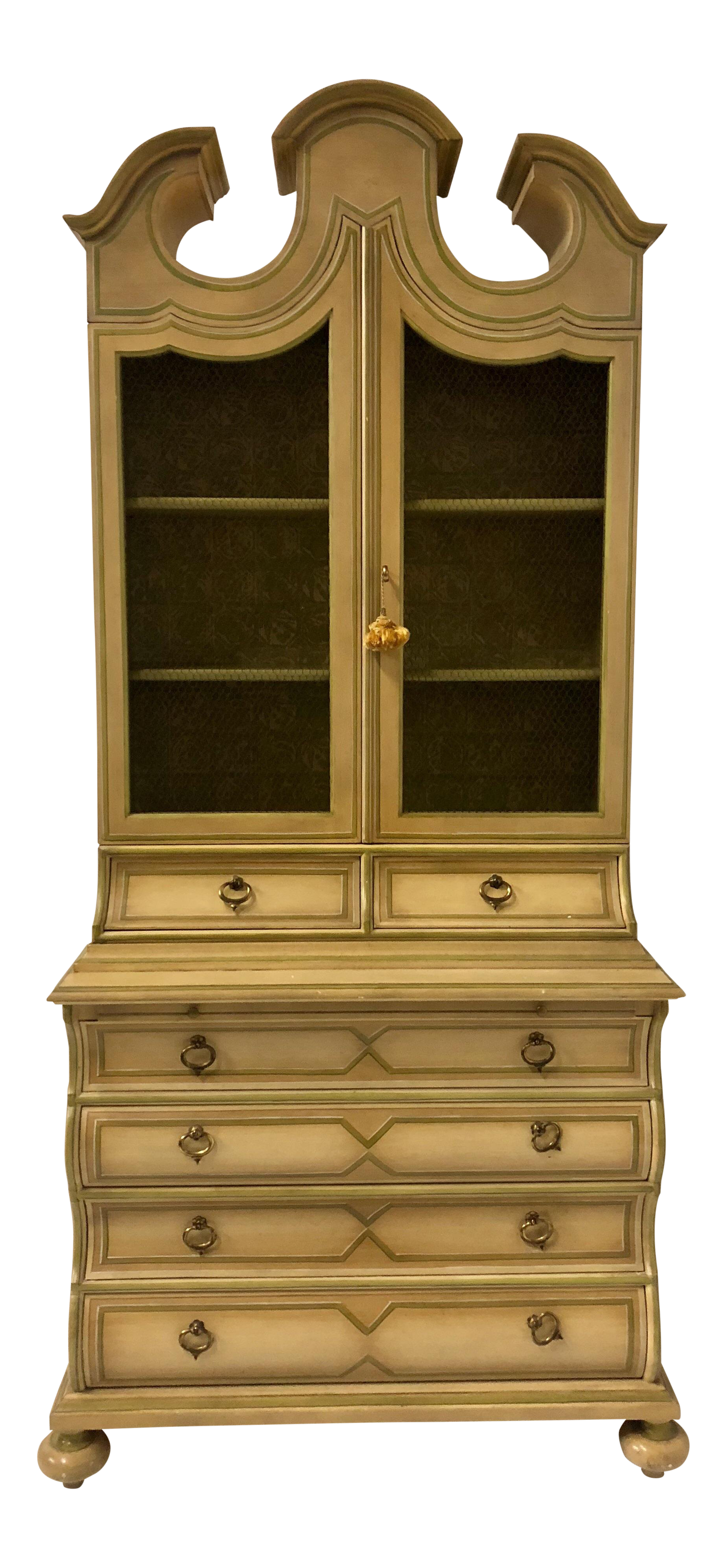 Painted Secretary By Baker Furniture