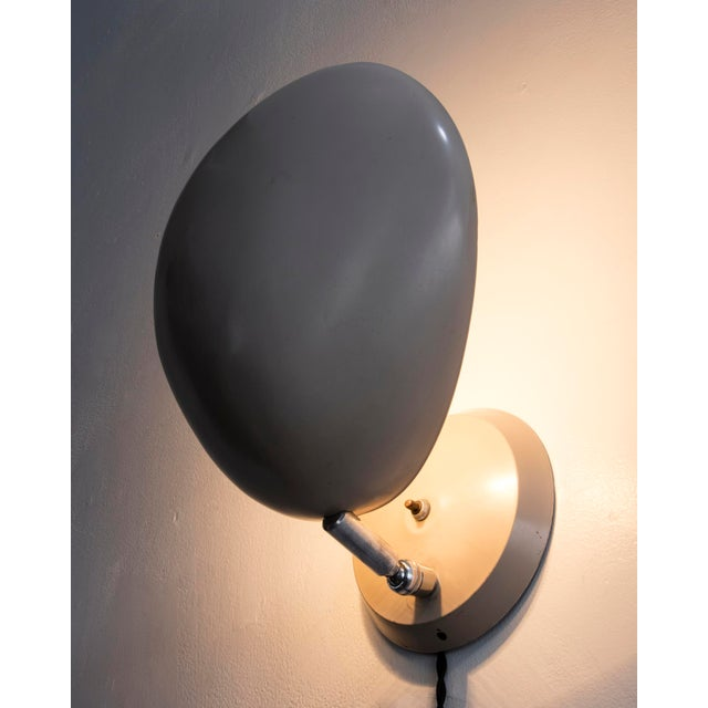 "Greta Grossman ""Cobra"" wall-mounted lamp For Sale - Image 4 of 6"