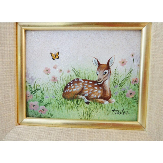 Framed Painting on Metal of a Deer For Sale In New York - Image 6 of 7