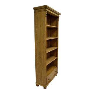 Pine Open Bookcase with Drawer