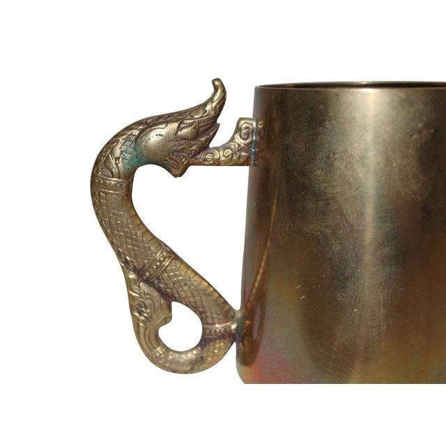 Antique Brass Serpentine Mugs - Set of 8 - Image 3 of 4