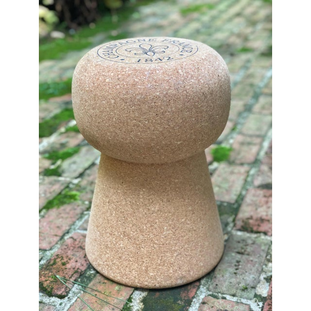 Champagne Cork Side Table For Sale - Image 10 of 10