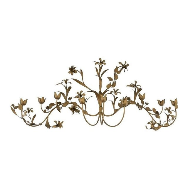 Brass Flower Candle Wall Hanging For Sale