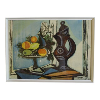 """1970s Vintage Picasso """"Compote Dish and Pitcher by the Window"""" Reproduction Print For Sale"""