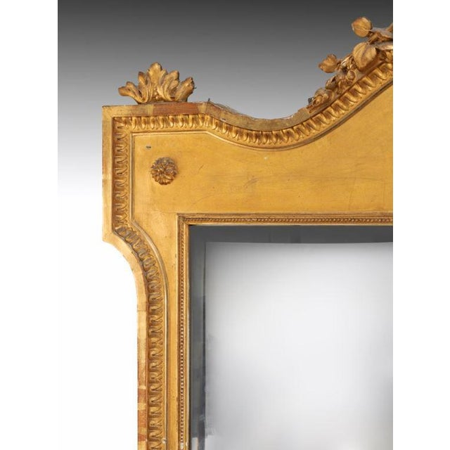 Traditional Large 19th Century French Mirror For Sale - Image 3 of 5