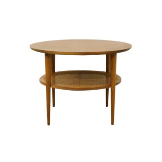 Mid Century Modern Lane Furniture Round Cocktail End Table For Sale