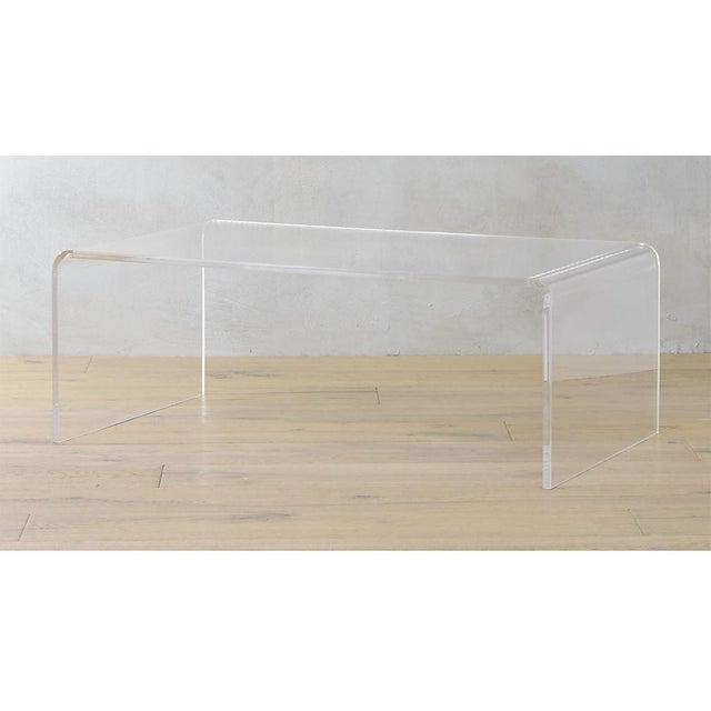 Cb Peekaboo Acrylic Coffee Table Chairish - Cb2 acrylic side table