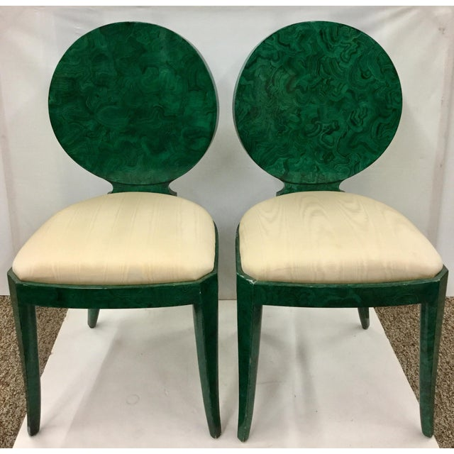 1980s Vintage Maitland Smith Faux Malachite Cocktail Set- 3 Pieces For Sale - Image 11 of 13