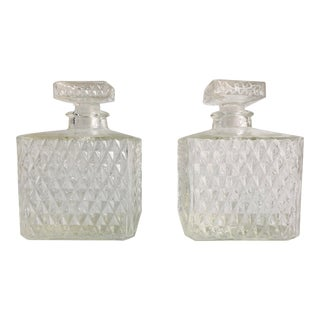 1950s Midcentury Mad Men Style Liquor Decanters - a Pair For Sale