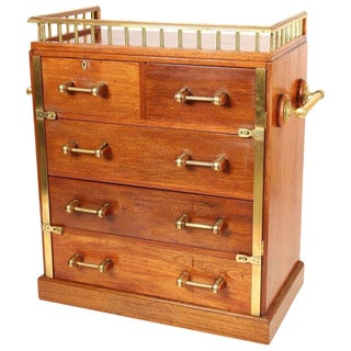 1950s Vintage Ship's Chest of Drawers For Sale