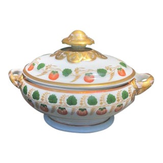 Mottahedeh Strawberry Vine Tureen With Lid For Sale
